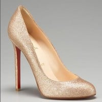 Christian Louboutin glitter pumps - $199.00