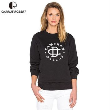 Women Sweatshirt Jumper Casual Hoodies For Lady Hipster Street Black