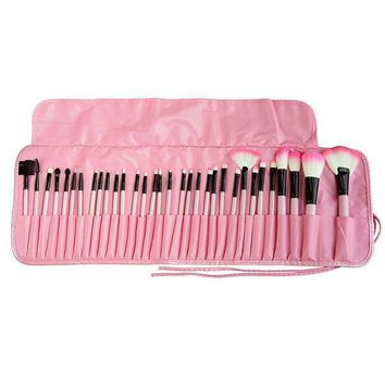 Professional 32 Pcs Makeup Brushes Bag Set Kits Make Up Multipurpose Cosmetics Lipstick Eyeshadow Powder Brushs Bags