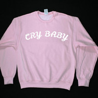 Cry Baby Graphic Print Unisex Sweatshirt