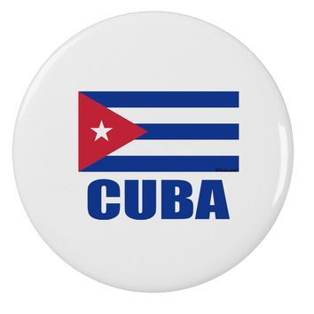 "Cuba Flag Cuban Pride 2.25"" Round Pin Button by TooLoud"