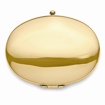 Gold-Tone Compact Mirror - Engravable Personalized Gift Item