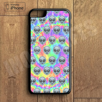 Cute Alien Emoji Tye Dye Cool Phone Case For iPhone 6 Plus For iPhone 6 For iPhone 5/5S For iPhone 4/4S For iPhone 5C3 iPhone X 8 8 Plus