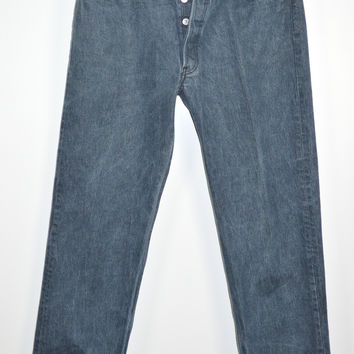 Levi's 501 Mens Jeans Straight Fit Button Fly 36X32