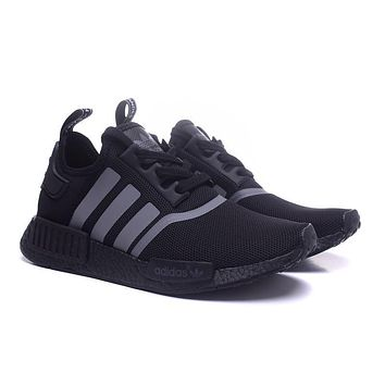"""Ready Stock"" adidas NMD Runner Black&Grey Men Women Sneaker"