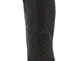 RELAX128X BROWN QUILTED KNEE HIGH RIDING BOOT
