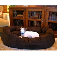 Majestic Pet Suede Bagel Bed – Multiple colors available