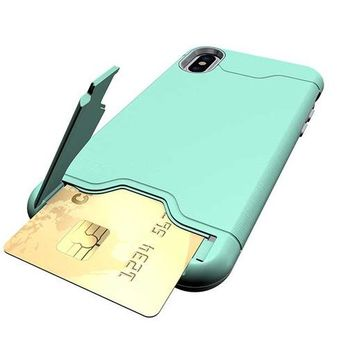 iPhone X Wallet / Shockproof Armor Case