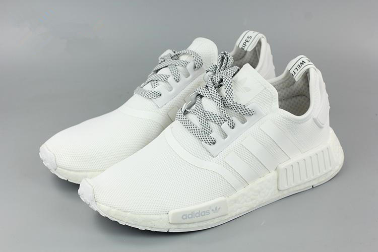 ... quite nice fc949 4b1c0 Adidas NMD R1 White Running Sport Casual Shoes  Sneakers ... bbedbbfd05
