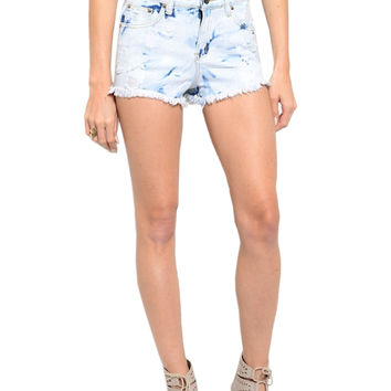Cutoff High Waisted Denim Jean Shorts