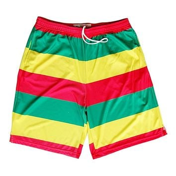 Rasta Flag Color Sublimated Lacrosse Shorts