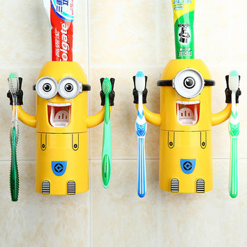 Minions Set Innovative Tooth Brush Holder Set [6432476230]