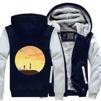 Rick And Morty Sunset, Rick And Morty Fleece Jacket