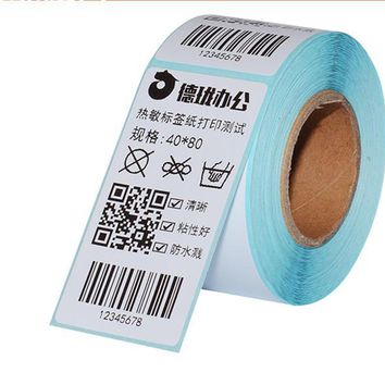 2016 new 1roll Thermal sticker paper 40x60mm 500sheets waterproof barcode printing paper paper bar code label printing paper