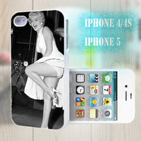 unique iphone case, i phone 4 4s 5 case,cool cute iphone4 iphone4s 5 case,stylish plastic rubber cases cover, star  MARILYN MONROE   p989