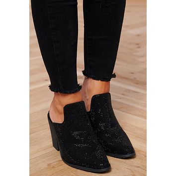 Laurel Rhinestone Heels (Black)