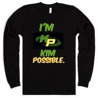 Kim Possible shirt-Unisex Black T-Shirt
