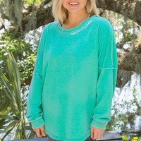 Jadelynn Brooke: Tieback Happy Girls are the Prettiest {Chalky Mint}