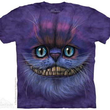 New BIG CHESHIRE CAT FACE T SHIRT