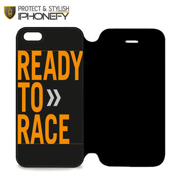 Ktm Ready To Race iPhone 5 Flip Case|iPhonefy