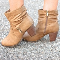 Zip It Up Khaki Zippered Bootie
