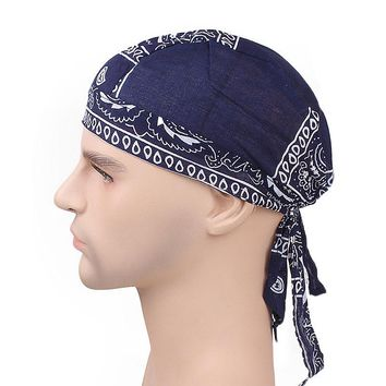 Unisex Floral Prints Bandana Hats Women Cotton Turban Head Wrap Du Doo Do Rag Men Hats Beanie Headpiece Hair Accessories C305