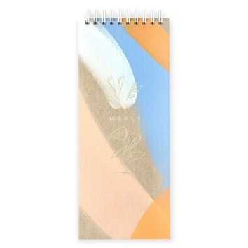 Hand-Painted Meal Planner Peach + Blue