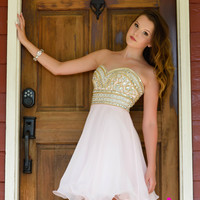 Madison James 16-315 Jeweled Homecoming Cocktail Dress