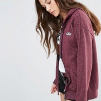 Vans Red Marl Zip Through Hoodie With Small Logo at asos.com