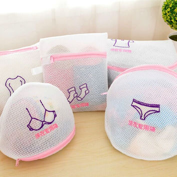 Shirt Sock Underwear Wash laundry Lingerie Protecting Mesh Bag basket Thickened Double Layer Zippered clothes storage Mesh Bag