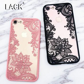 LACK Sexy Lace Datura Paisley Mandala Henna Flower Case For iphone 7 Case For iphone 7 Plus Back Cover Classic Phone Cases Capa