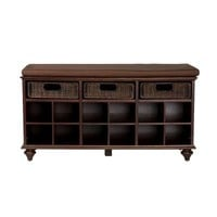 Home Decorators Collection, Chelmsford Shoe Bench in Espresso, BC4013H at The Home Depot - Tablet