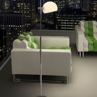 Zuo Astro Floor Lamp Frosted Glass - 50012