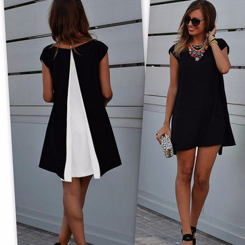 Black and White Chiffon Top
