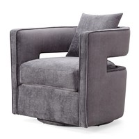 Kennedy Grey Swivel Chair