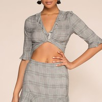 London Calling Plaid Highwaisted Skirt