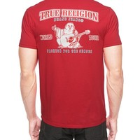 True Religion Logo Double Puff Mens T-shirt - Red