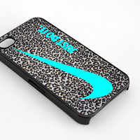 Nike Just Do It Leopard Silver for iphone 4/4s case, iphone 5/5s/5c case, samsung s3/s4 case cover