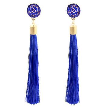 Geometric Police Support Tassel Earrings