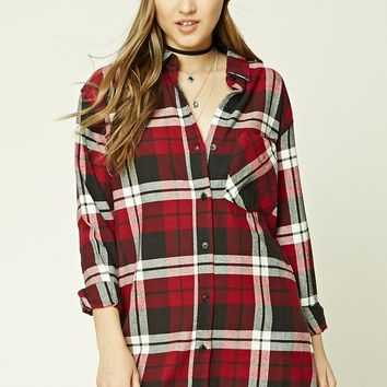Buffalo Plaid Shirt Dress