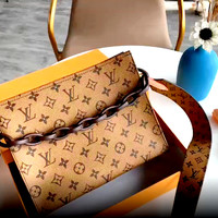 LV new fashion versatile double-sided wash bag clutch bag