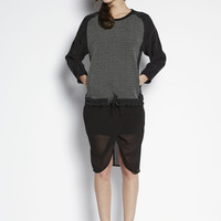 Knit Combo Top