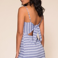 Whisked Away Dress - Navy