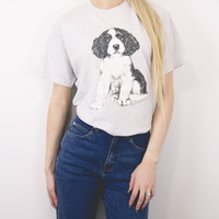 Vintage 1995 English Springer Spaniel Puppy T Shirt