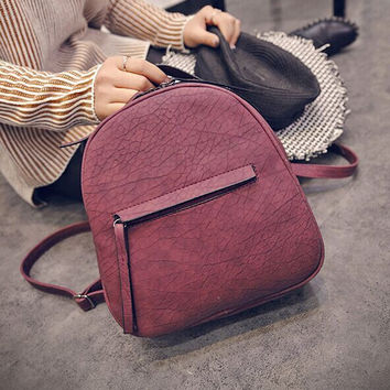 Casual College Hot Deal On Sale Comfort Back To School Korean PU Leather Stylish Fashion Backpack [6580918663]