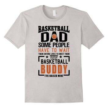 Mens Basketball Dad Funny Father Son Matching T-shirt