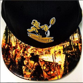 Pittsburgh Steelers Authentic New Era Snapback or Fitted Cap with steelworkers custom