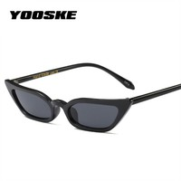 YOOSKE Sexy Small Cat Eye Sunglasses Women Vintage Red Black Sun Glasses Female ladies Cateyes Sunglass 2018 Retro Glasses UV400
