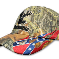 BuckedUp Logo Camo With Rebel Flames
