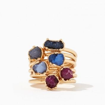 Astrea Druzy Ring Set | Charming Charlie